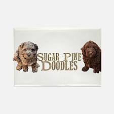 Sugar Pine Doodles Rectangle Magnet