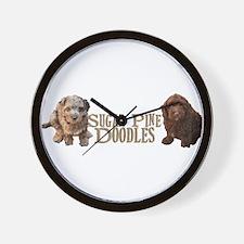 Sugar Pine Doodles Wall Clock
