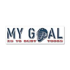 My Goal, Lacrosse Goalie Car Magnet 10 x 3