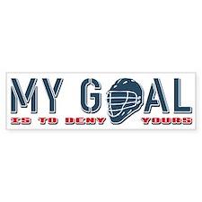 My Goal, Lacrosse Goalie Bumper Sticker