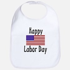 Happy Labor Day Bib