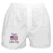 Happy Labor Day Boxer Shorts