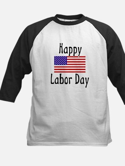 Happy Labor Day Kids Baseball Jersey