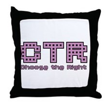 CTR Pac Man Purple Choose the Right Throw Pillow