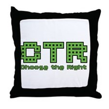CTR Pac Man Green Choose the Right Throw Pillow