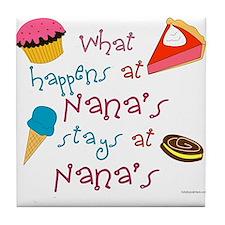 What happens at Nana's stays at Nanas Tile Coaster