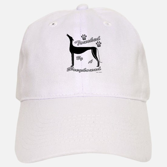 TOUCHED BY A GREYHOUND (BLK) Baseball Baseball Cap