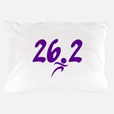 Purple 26.2 marathon Pillow Case