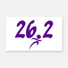 Purple 26.2 marathon Rectangle Car Magnet