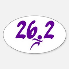 Purple 26.2 marathon Decal