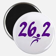 "Purple 26.2 marathon 2.25"" Magnet (10 pack)"