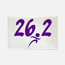 Purple 26.2 marathon Rectangle Magnet