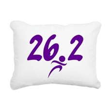 Purple 26.2 marathon Rectangular Canvas Pillow