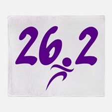 Purple 26.2 marathon Throw Blanket