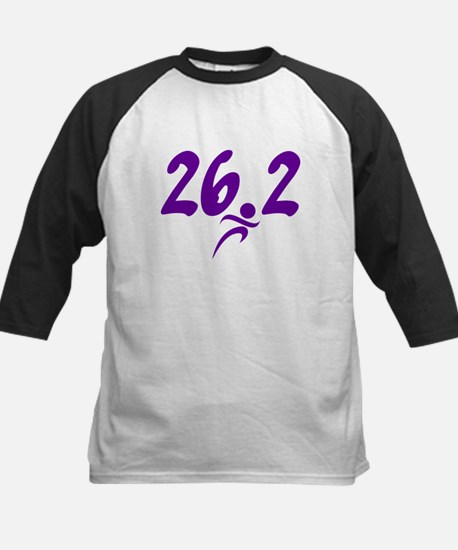 Purple 26.2 marathon Kids Baseball Jersey