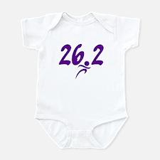 Purple 26.2 marathon Infant Bodysuit