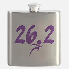 Purple 26.2 marathon Flask