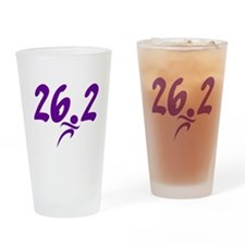 Purple 26.2 marathon Drinking Glass