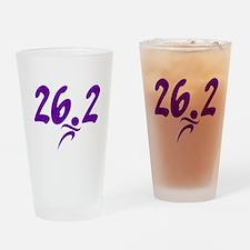 Purple 26.2 marathon Drinking Glass