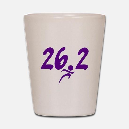 Purple 26.2 marathon Shot Glass