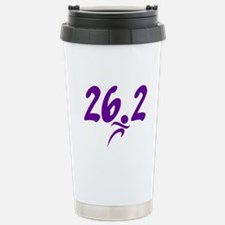 Purple 26.2 marathon Travel Mug