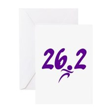 Purple 26.2 marathon Greeting Card
