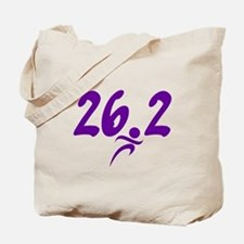 Purple 26.2 marathon Tote Bag