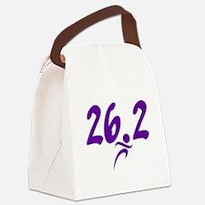 Purple 26.2 marathon Canvas Lunch Bag