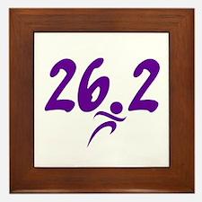 Purple 26.2 marathon Framed Tile