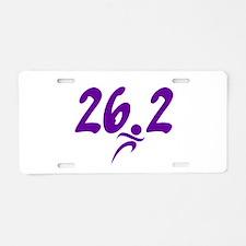 Purple 26.2 marathon Aluminum License Plate