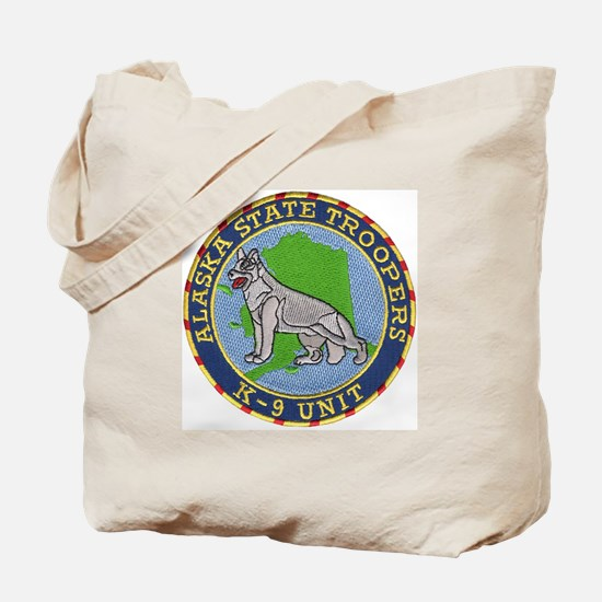 Alaska Trooper K9 Tote Bag