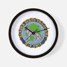 Alaska Trooper K9 Wall Clock