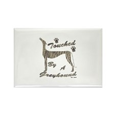 TOUCHED BY A GREYHOUND (BRINDLE) Rectangle Magnet