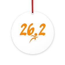 Orange 26.2 marathon Ornament (Round)