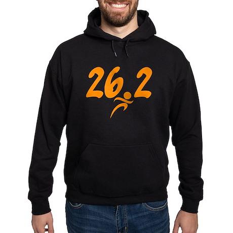 Orange 26.2 marathon Hoodie (dark)