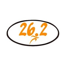 Orange 26.2 marathon Patches