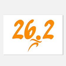 Orange 26.2 marathon Postcards (Package of 8)
