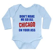 Chicago Baseball Long Sleeve Infant Bodysuit