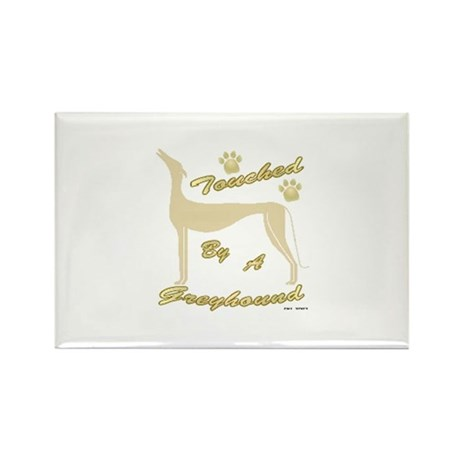 TOUCHED BY A GREYHOUND (FAWN) Rectangle Magnet