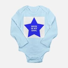 star-mick.png Long Sleeve Infant Bodysuit