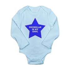 star-nicholas.png Long Sleeve Infant Bodysuit