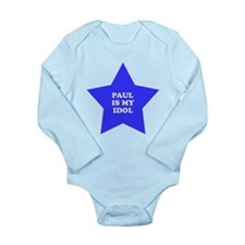 3-star-paul.png Long Sleeve Infant Bodysuit