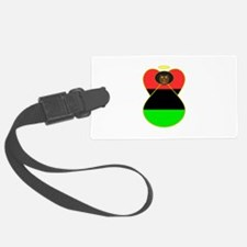 African American Angel Flag Luggage Tag