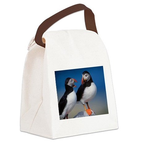 Puffin Birds Canvas Lunch Bag