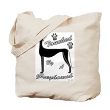 TOUCHED BY A GREYHOUND TOTE BAG (BLK)