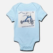 boy nobody rides for free Infant Creeper