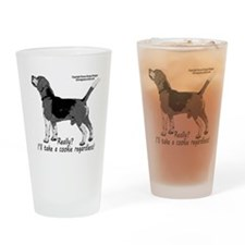 beagle nosework nathan Drinking Glass