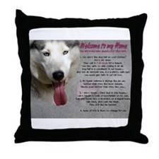The Dog Lives Here. You Don't. Throw Pillow