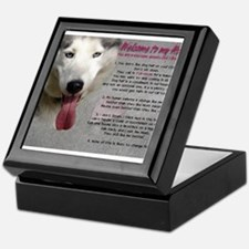 The Dog Lives Here. You Don't. Keepsake Box