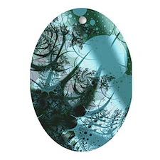 """Fruitful"" Fractal Art Oval Ornament"
